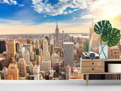 Manhattan aerial view