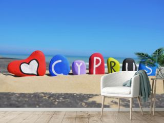 Cyprus, souvenir on colored stone letters
