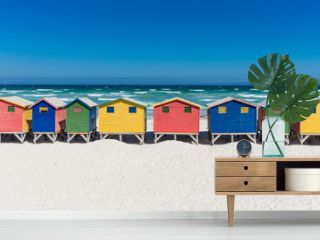 Bath houses in Muizenberg, Cape Town