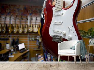 guitar in a music store