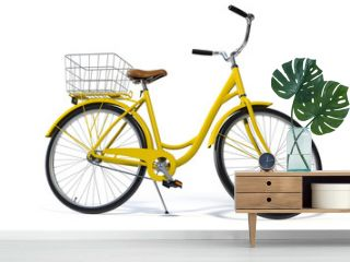 Yellow Vintage Style Bike Side View