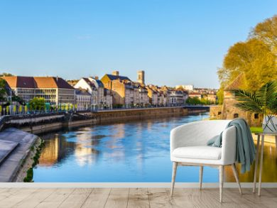 Buildings on the embankment in Besancon - France