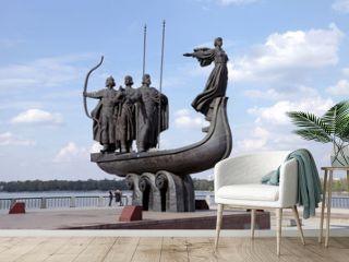 Monument to legendary founders of Kiev