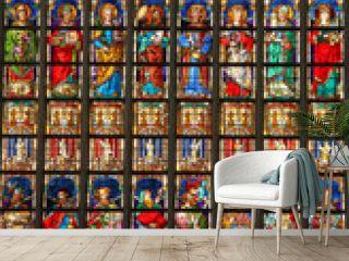 Anvers, vitrail de la cathédrale Notre-Dame, Belgique