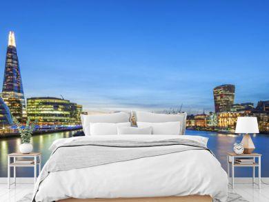 Panoramic view of london skyline