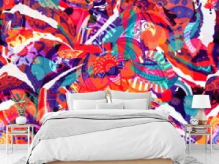 Colorful seamless pattern. Abstract briht wallpaper