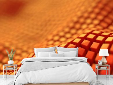 Geometric wave structure, 3d illustration background