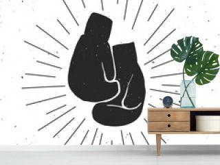 Boxing gloves illustration.