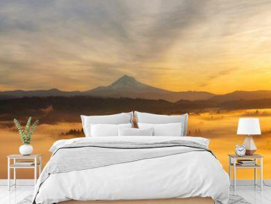 Sunrise Over Mt Hood Panorama