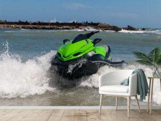 jet ski on the beach