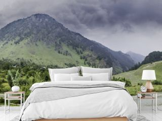 Landscape Panorama of Betaab Valley, Anantnag, Jannu and Kashmir
