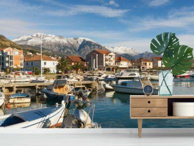 View of Tivat city, Montenegro