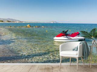 Jetski on the Greek beach
