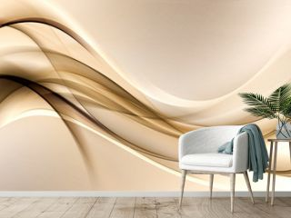 brown gold waves