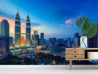 Kuala Lumper skyline at twilight