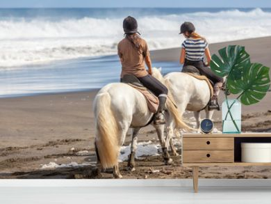 randonnée équestre, promenade à cheval sur plage