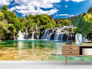 Waterfall In Krka National Park -Dalmatia, Croatia