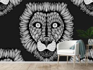 Seamless lion background