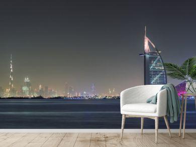 Dubai Panoramic Night View