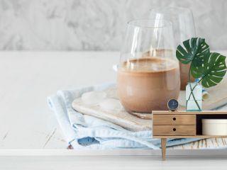Chocolate milk in glasses