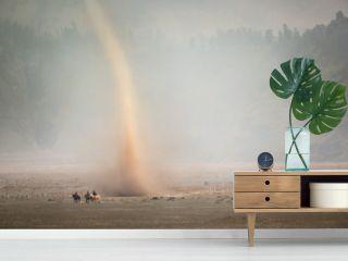 Storm desert