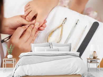 Master using professional instruments when doing pedicure