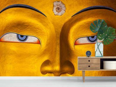 Maitreya Buddha face close up, Ladakh