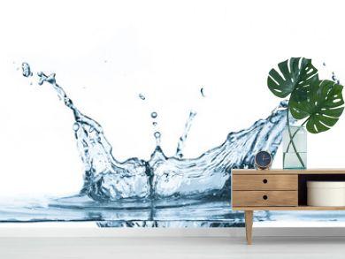 Water splash isolated on white background.
