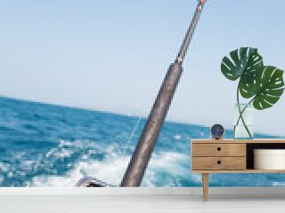 Fishing trolling a motor boat in the Andaman Sea
