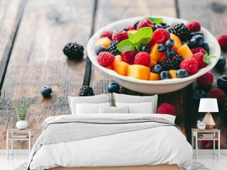 Mixed fruit salad in bowl