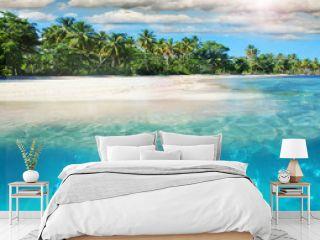 Entspannung, Freude, Auszeit, Glück: Tauchen im Meer bei karibischer Trauminsel :)