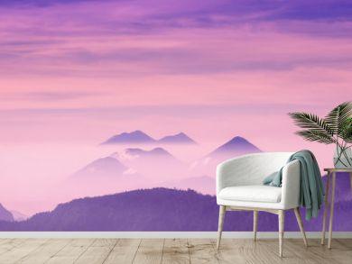 purple Volcano sunrise