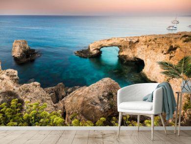 Beautiful beach view. Beautiful natural rock arch in Ayia Napa on Cyprus island