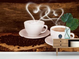 Good Morning: Coffee with heart-shaped steam :)