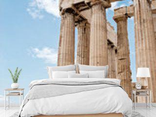 Fragment of Parthenon temple on the Acropolis of Athens,Greece