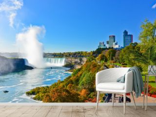 View of Niagara Falls in a sunny day
