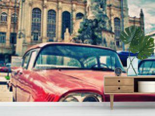 Vintage classic american car in a street of Old Havana