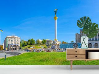 Panorama of Independence Square in Kiev