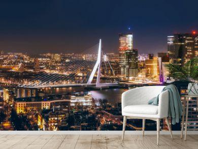 Rotterdam night in holland