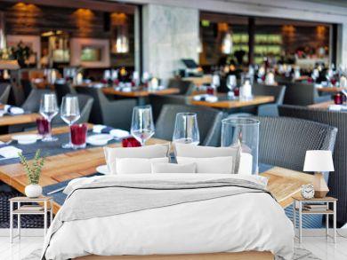 Typical restaurant terrace in Ascona