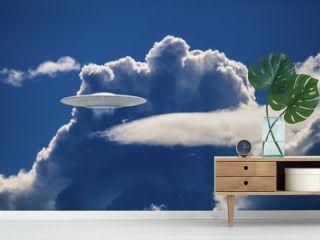 UFO in  dramatic clouds