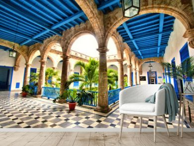 Colonial building interior in Old Havana , Cuba