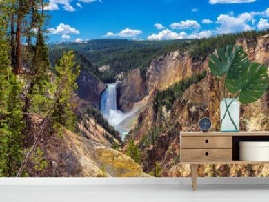 Falls in Grand Canyon of the Yellowstone National Park, Wyoming
