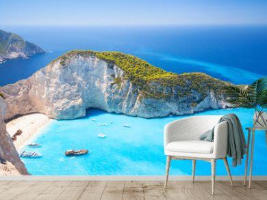 Zakynthos, Greek island, Navagio bay