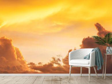 golden sunset sunrise sky, panorama
