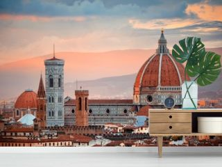 Florence Cathedral skyline sunset