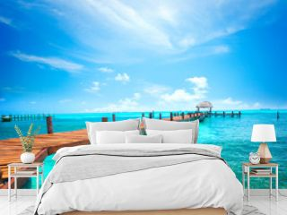 Exotic Caribbean island. Travel, tourism or vacations concept. Tropical beach resort