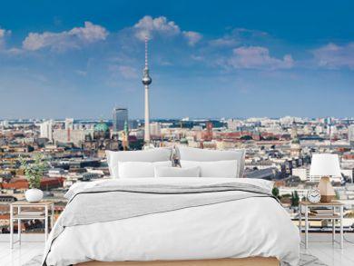 Beautiful panorama of the skyline of Berlin