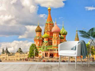 Cathedral of St. Basil at the Red Square in Moscow, Russia.