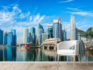 Singapore skyline over Marina Bay